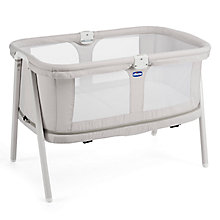 Buy Chicco Lullago Zip Travel Crib, Grey Online at johnlewis.com