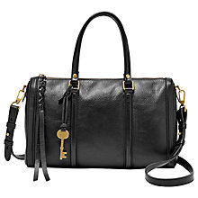 Buy Fossil Kendall Leather Satchel Online at johnlewis.com