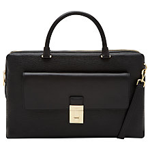 Buy Ted Baker Bronagh Leather Shoulder Bag, Black Online at johnlewis.com