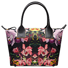 Buy Ted Baker Debrora Lost Gardens Tote Bag, Black Online at johnlewis.com