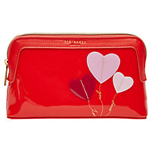 Buy Ted Baker Ryann Small Makeup Bag, Orange Online at johnlewis.com