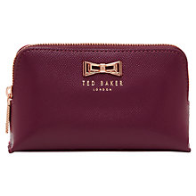 Buy Ted Baker Leather Makeup Bag, Grape Online at johnlewis.com