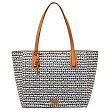 Buy Fossil Emma Tote Bag, Blue Print Online at johnlewis.com