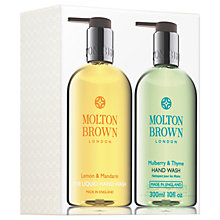 Buy Molton Brown Lemon & Mandarin And Mulberry & Thyme Hand Wash Set Online at johnlewis.com