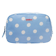 Buy Cath Kidston Button Spot Box Cosmetic Bag, Blue Online at johnlewis.com