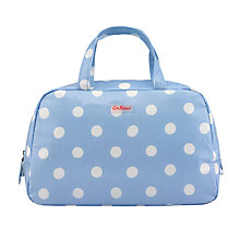 Buy Cath Kidston Button Spot Grab Handle Wash Bag, Blue Online at johnlewis.com