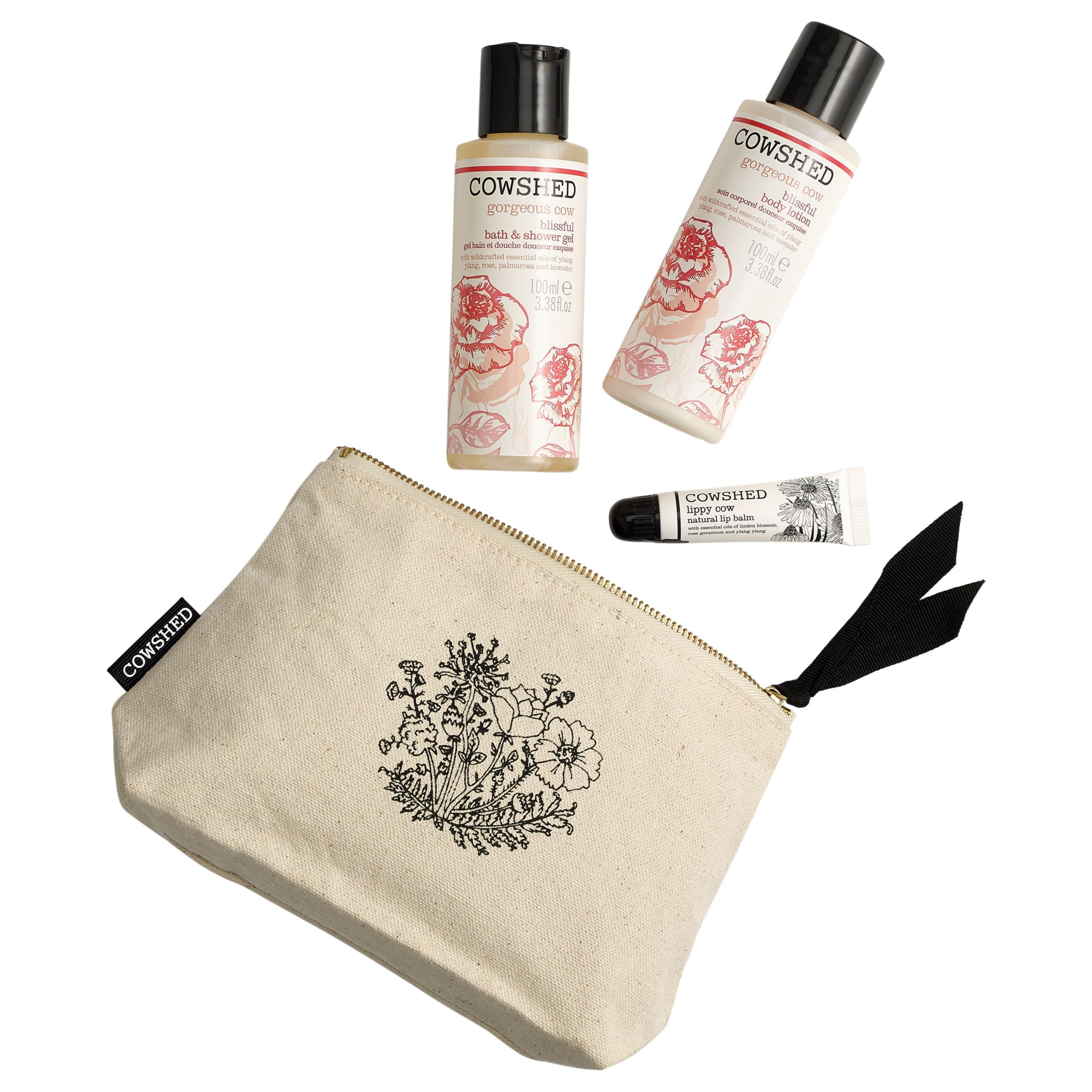 Cowshed Cowshed Gorgeous Essentials Natural Bag Gift Set