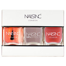 Buy Nails Inc Top Coat, Base Coat & Gel Effect Porchester Square Trio, 3 x 14ml Online at johnlewis.com