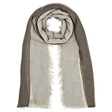Buy Jigsaw Wide Stripe Fringe Edge Scarf, Multi Online at johnlewis.com
