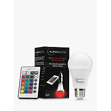 Buy Auraglow 7W ES A60 LED Bulb and Remote Control, Multi Online at johnlewis.com