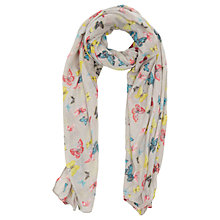 Buy Oasis Enchanted Forest Butterfly Print Scarf, Multi Online at johnlewis.com