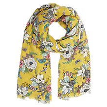 Buy Oasis Winterfold Scarf, Ochre Online at johnlewis.com