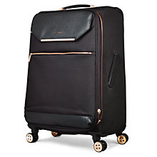 Buy Ted Baker Soft Albany 71cm 4-Wheel Suitcase, Black Online at johnlewis.com