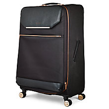Buy Ted Baker Soft Albany 83cm 4-Wheel Suitcase, Black Online at johnlewis.com