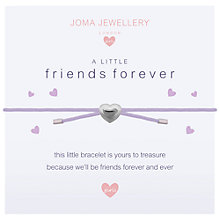 Buy Joma A Little Friends Forever Bracelet, Silver Online at johnlewis.com