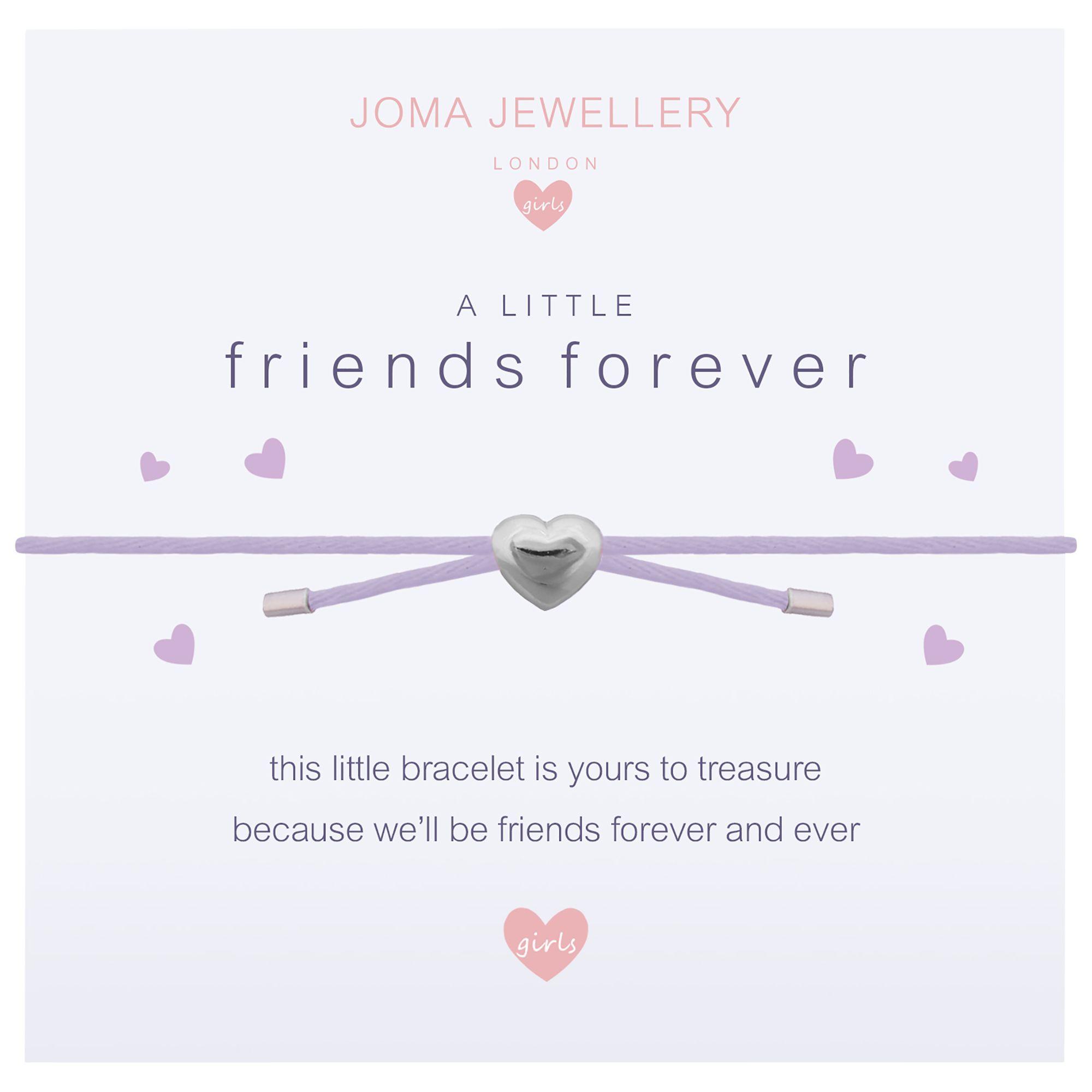 Joma Joma A Little Friends Forever Bracelet, Silver