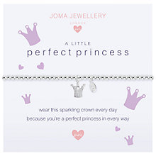 Buy Joma A Little Perfect Princess Beaded Bracelet, Silver Online at johnlewis.com