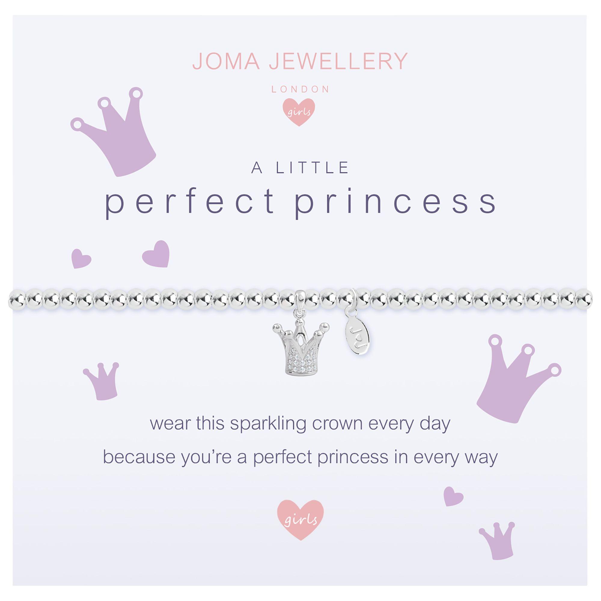 Joma Joma A Little Perfect Princess Beaded Bracelet, Silver