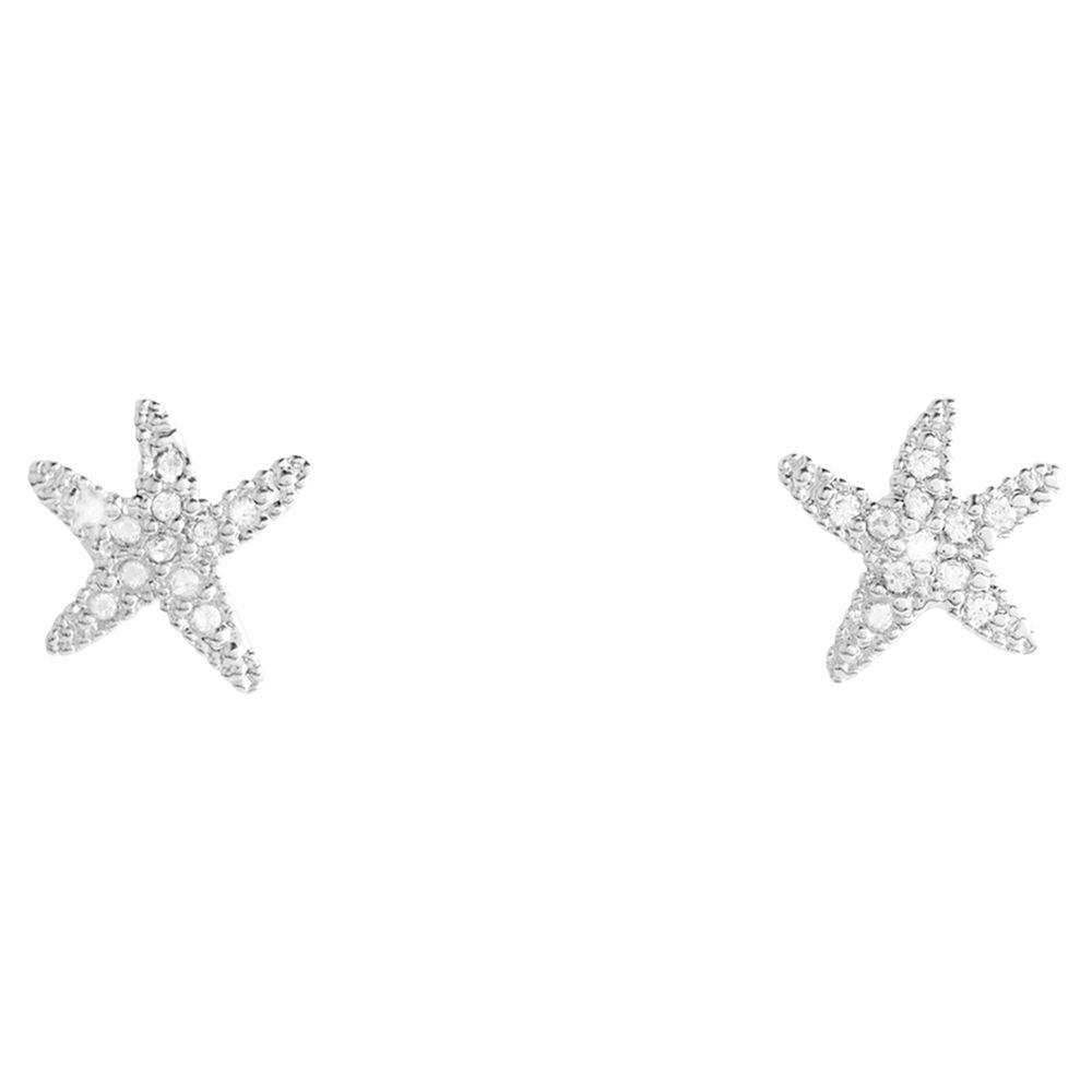 Joma Joma Sofia Starfish Stud Earrings, Silver