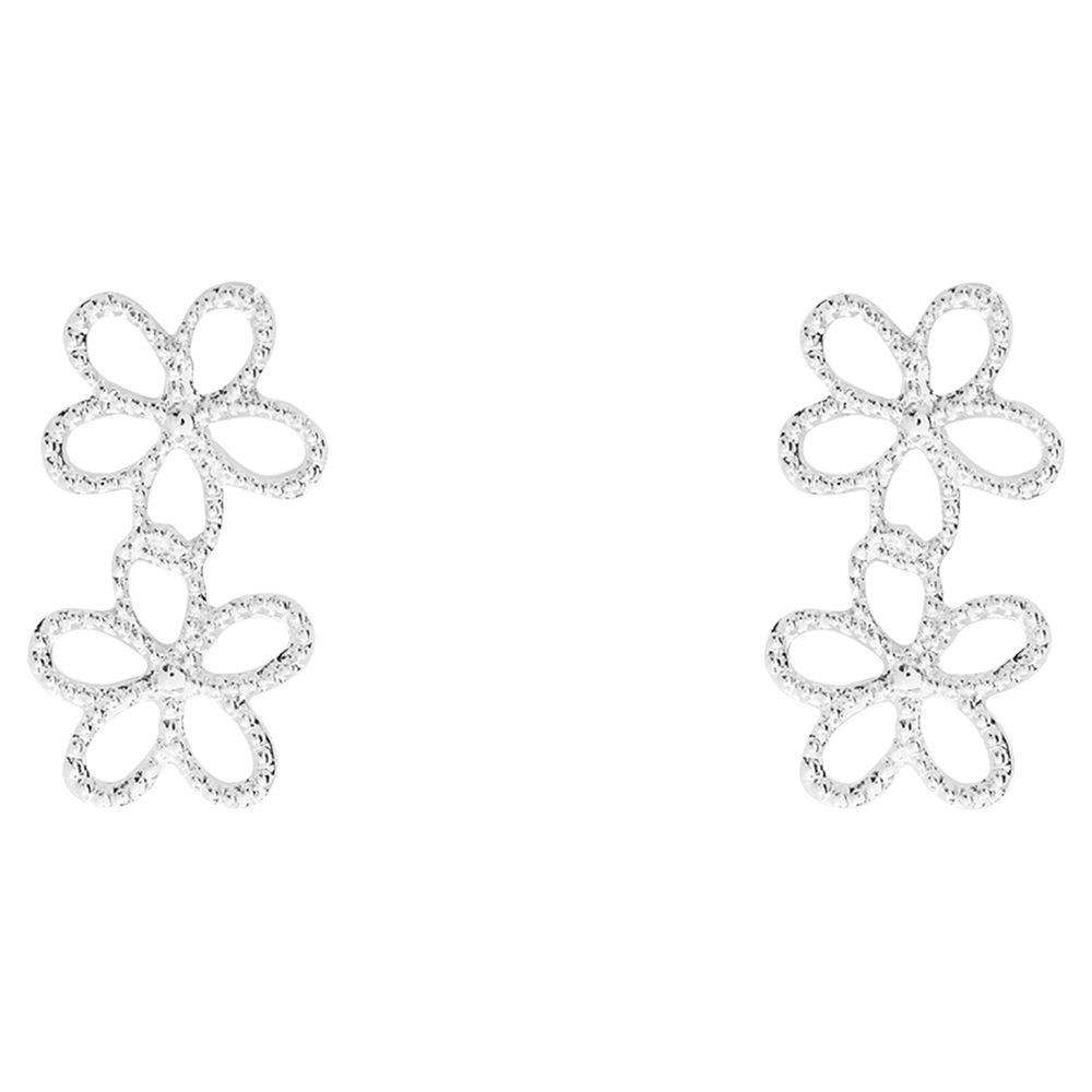 Joma Joma Ditzy Daisy Drop Earrings, Silver
