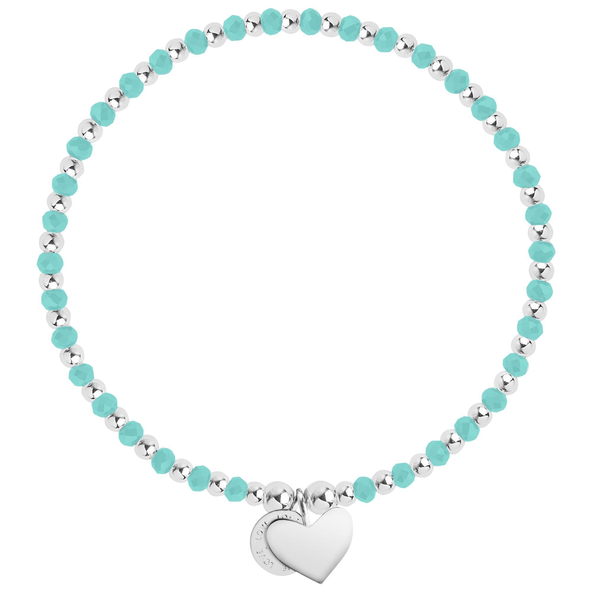 Joma Joma Wisdom Heart Charm Bracelet, Turquoise/Silver