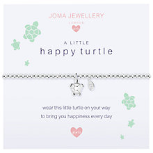 Buy Joma A Little Happy Turtle Beaded Bracelet, Silver Online at johnlewis.com
