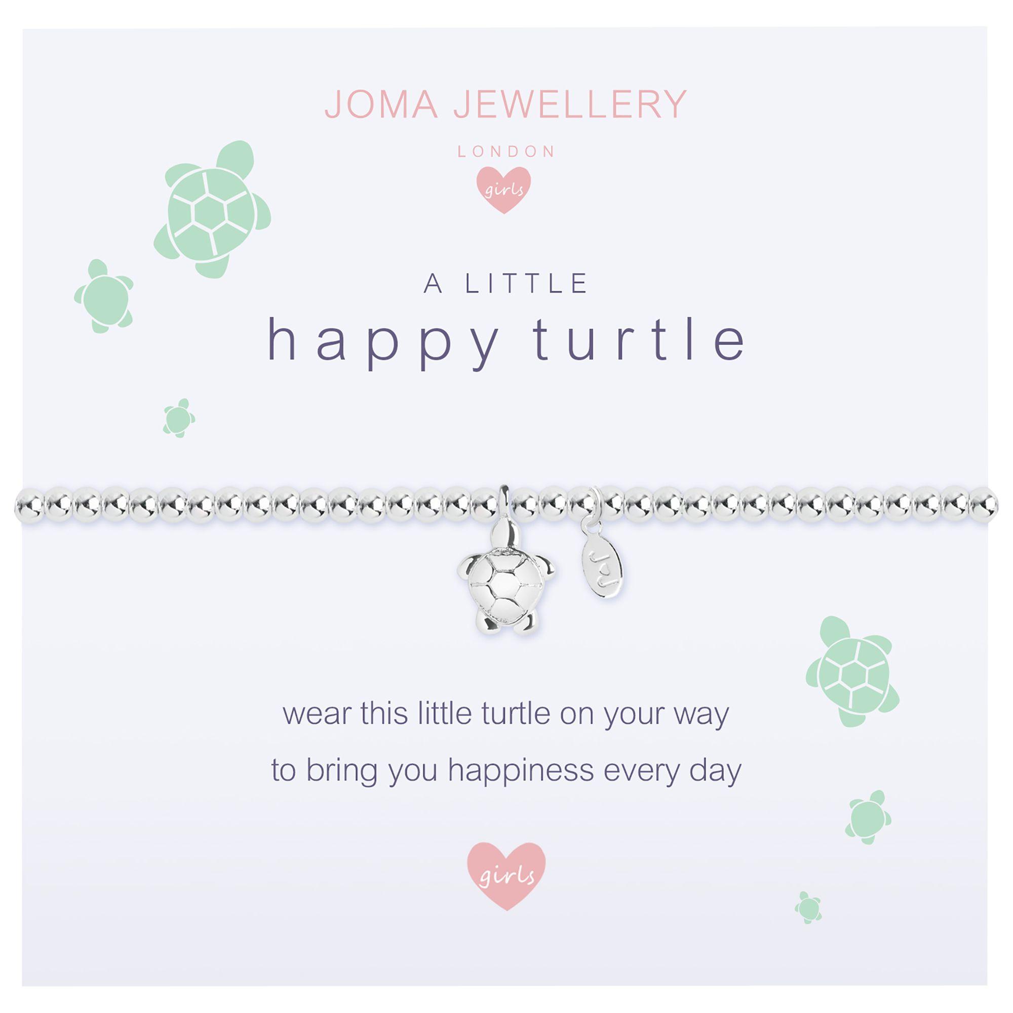 Joma Joma A Little Happy Turtle Beaded Bracelet, Silver