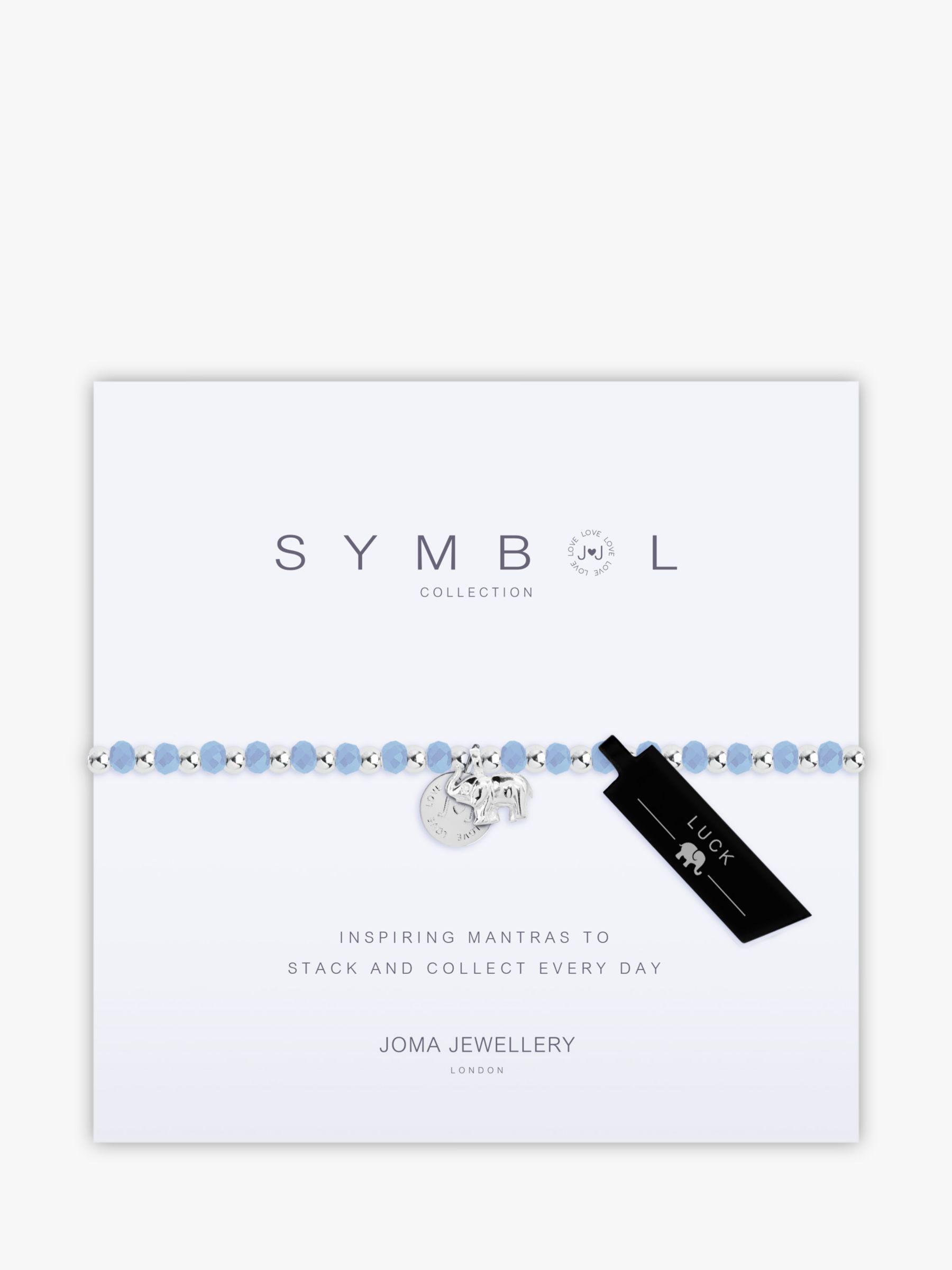 Joma Joma Elephant Charm Beaded Bracelet, Silver/Blue