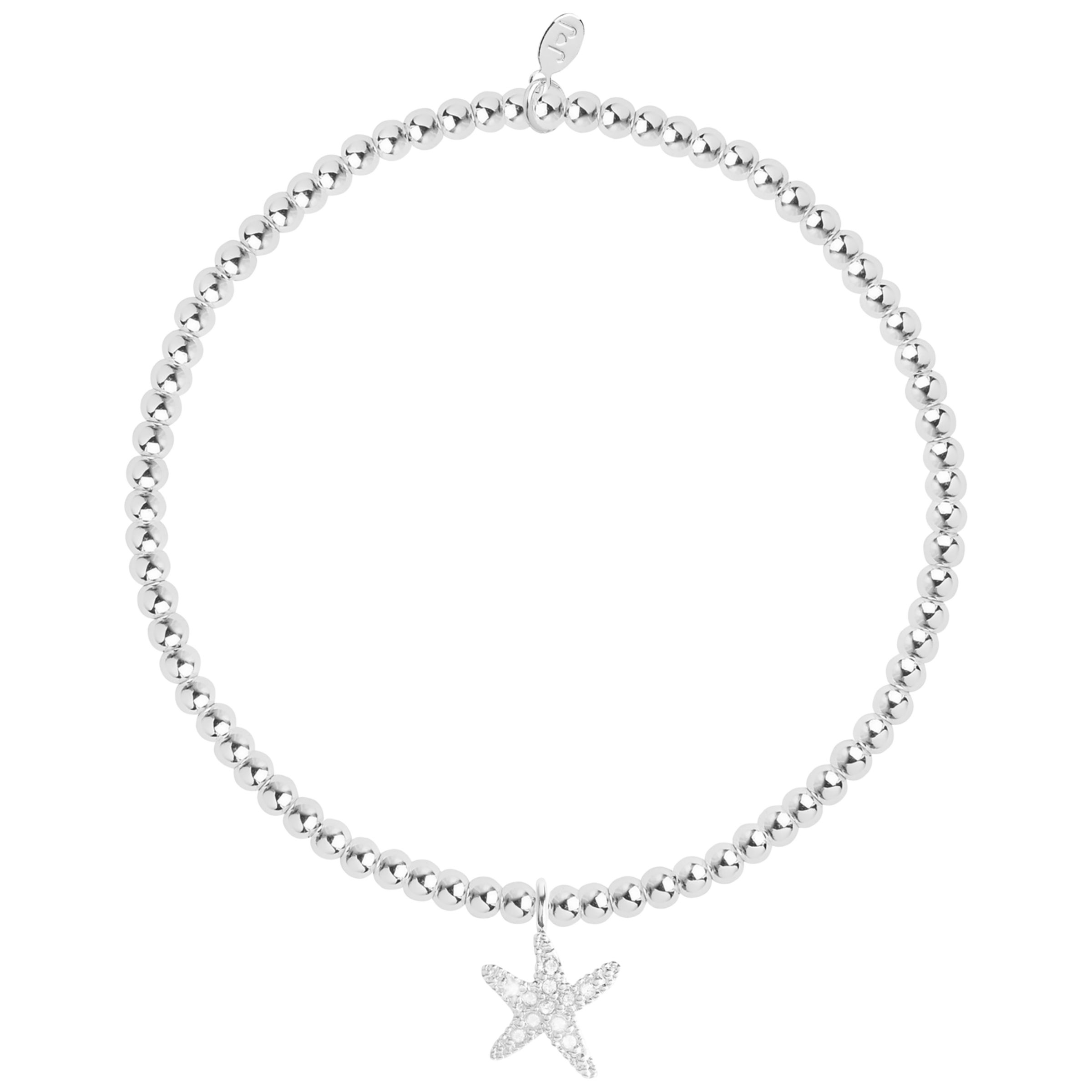 Joma Joma Sofia Beaded Starfish Bracelet, Silver