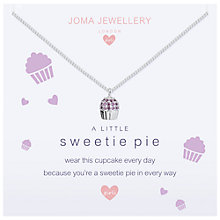Buy Joma A Little Sweetie Pie Pendant Necklace, Silver Online at johnlewis.com