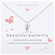 Buy Joma A Little Butterfly Pendant Necklace, Silver Online at johnlewis.com