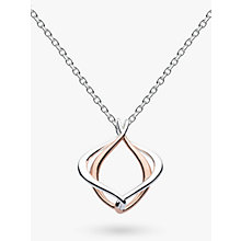 Buy Kit Heath Alicia Small Pendant Necklace, Rose Gold/Silver Online at johnlewis.com