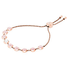 Buy Michael Kors Rose Quartz Slider Chain Bracelet, Rose Gold/Blush Online at johnlewis.com