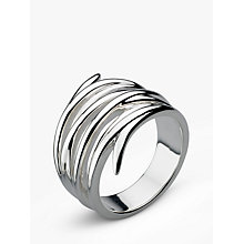 Buy Kit Heath Twine Helix Wrap Ring, Silver Online at johnlewis.com