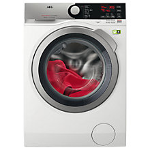 Buy AEG L8FEE965R Freestanding Washing Machine, 9kg Load, A+++ Energy Rating, 1600rpm Spin, White Online at johnlewis.com