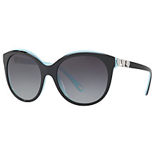 Buy Tiffany & Co TF4133 Oval Sunglasses, Black/Grey Gradient Online at johnlewis.com