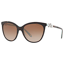 Buy Tiffany & Co TF4131HB Embellished Cat's Eye Sunglasses Online at johnlewis.com