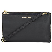 Buy MICHAEL Michael Kors Adele Leather Across Body Purse Online at johnlewis.com
