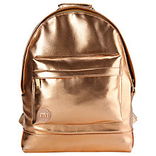 Buy Mi-Pac Metallics Backpack, Rose Gold Online at johnlewis.com