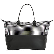 Buy Mi-Pac Microdot Weekender Bag, Black/White Online at johnlewis.com
