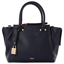 Buy Dune Delfie Triple Zip Grab Bag, Navy Online at johnlewis.com