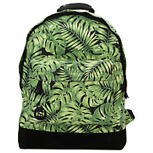 Buy Mi-Pac Tropical Leaf Backpack, Black/Green Online at johnlewis.com