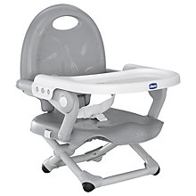 Buy Chicco Pocket Snack Highchair, Silver Online at johnlewis.com
