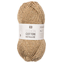 Buy Rico Cotton Metallise Fashion Yarn, 50g Online at johnlewis.com