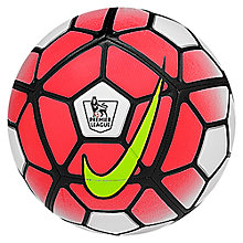 Buy Nike Premier League Skills Football, Size 1, White/Hyper Pink Online at johnlewis.com