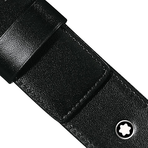 Buy Montblanc Meisterstück Siena Leather Writing Instrument Pouch, Black Online at johnlewis.com