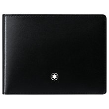 Buy Montblanc Meisterstück 6 Card Leather Wallet, Black Online at johnlewis.com
