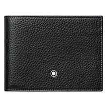 Buy Montblanc Meisterstück 6 Card Soft Grain Leather Wallet, Black Online at johnlewis.com