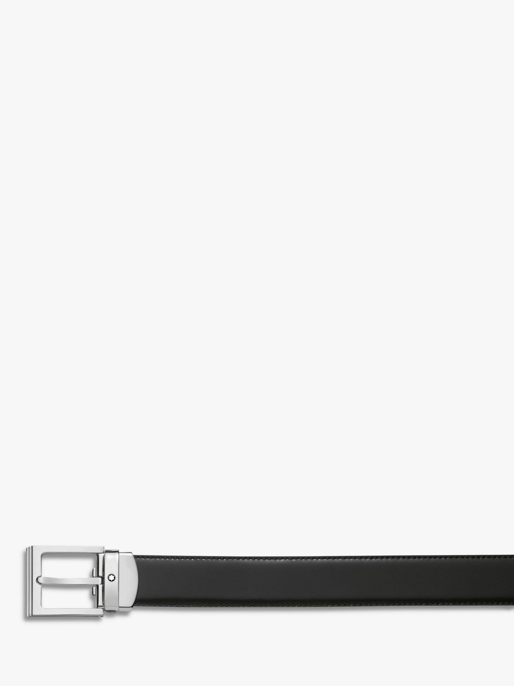 Montblanc Montblanc Palladium Square Buckle Leather Belt,One Size, Black