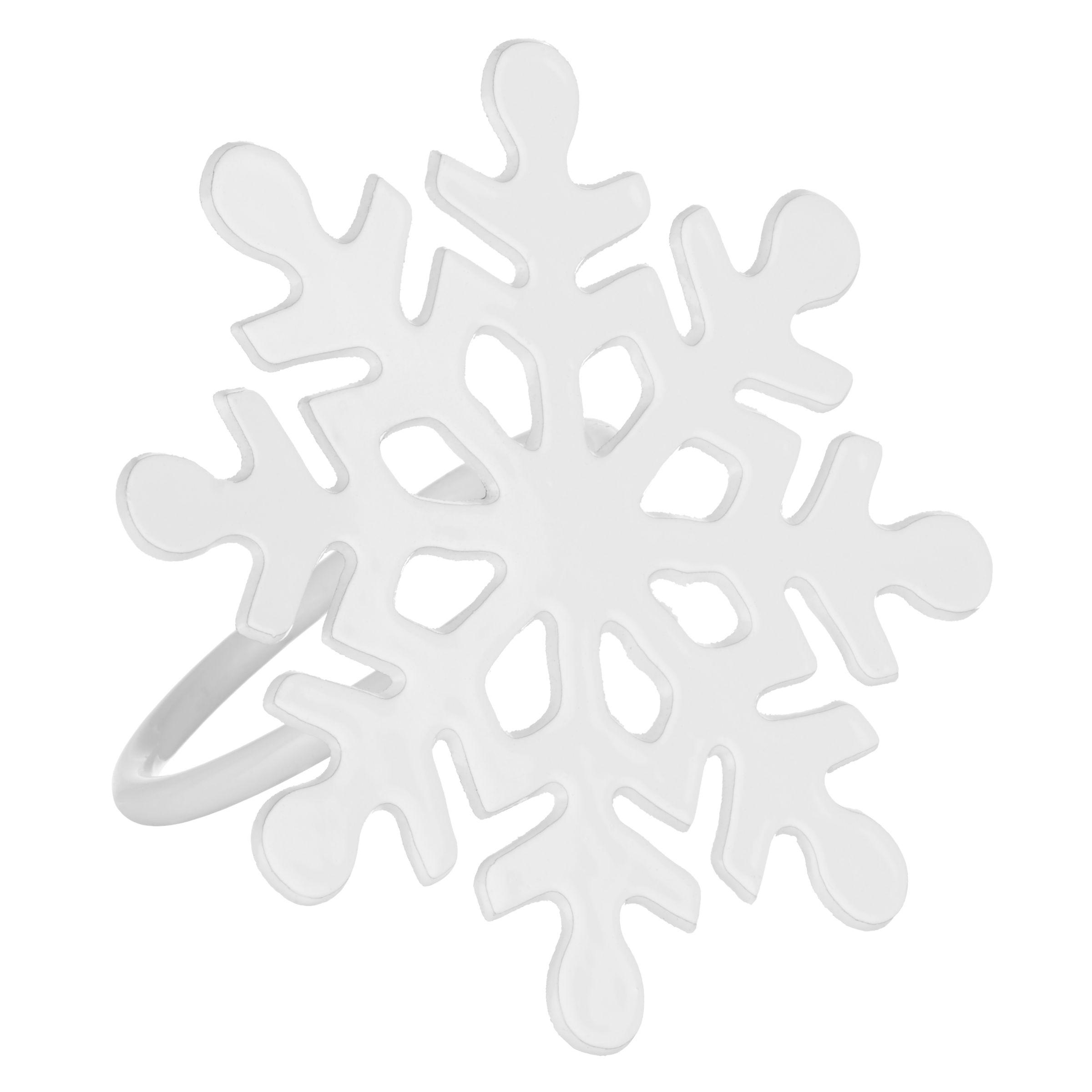 John Lewis John Lewis Snowflake Napkin Ring, White